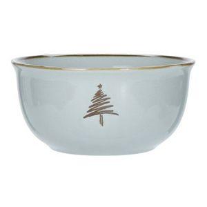 2-dielna sada porcelánových misiek Merry Christmas, 450 ml, sivo-zelená