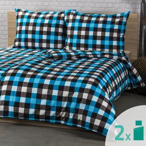 4Home 2 sady obliečok Checker, 140 x 200 cm, 70 x 90 cm