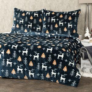 4Home obliečky mikroflanel Nordic Deer, 140 x 200 cm, 70 x 90 cm