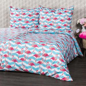 4home Bavlnené obliečky Flamingo, 140 x 200 cm, 70 x 90 cm, 140 x 200 cm, 70 x 90 cm