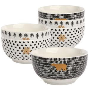 Altom Sada porcelánových misiek Nordic Winter 12,5 cm, 6 ks