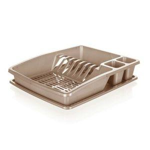 Banquet Odkvapkávač na riad myKitchen, 38 x 31 x 7,5 cm, hnedá