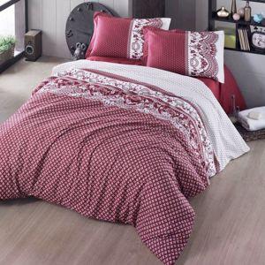 Kvalitex Bavlnené obliečky Canzone červená, 140 x 220 cm, 70 x 90 cm