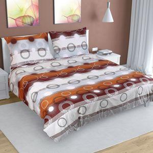 Bellatex Bavlnené obliečky Lúče hnedá, 200 x 220 cm, 2 ks 70 x 90 cm