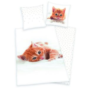 Herding bavlnené obliečky Mačiatko, 140 x 200 cm, 70 x 90 cm