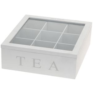 Box na čaj Tea, biela