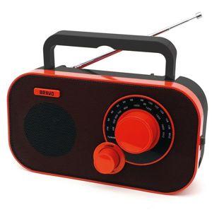 Prenosné rádio Bravo B-5184 ČERVENO ČIERNA
