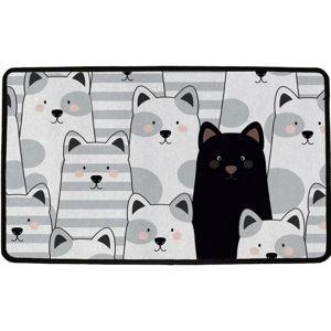 Butter Kings Vnútorná multifunkčná rohožka Black cat, 75 x 45 cm