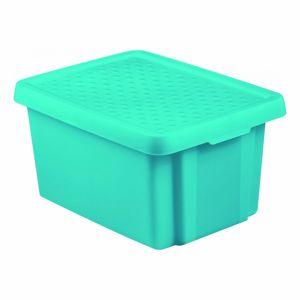 Curver Úložný box ESSENTIALS 16l s víkem modrý