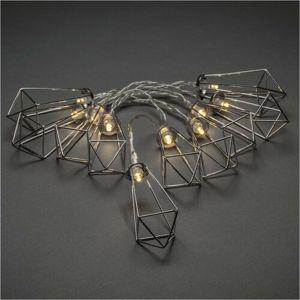 Dekoratívna LED reťaz Lampáše, strieborná
