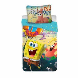 Jerry Fabrics Detské bavlnené obliečky Spong Bob movie, 140 x 200 cm, 70 x 90 cm