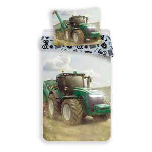 Detské bavlnené obliečky Traktor green, 140 x 200 cm, 70 x 90 cm