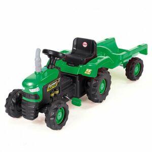 Dolu Detský traktor šliapací s vlečkou, zelená
