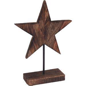 Drevená dekorácia Wooden Star, 26 cm