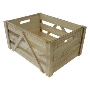 Drevená úložná krabica L, 36 x 18 x 26 cm