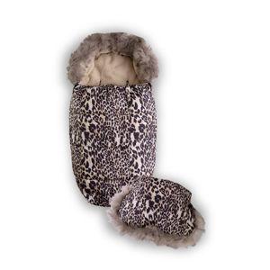 Babymatex Fusak s rukávnikom vzor leopard, 100 cm