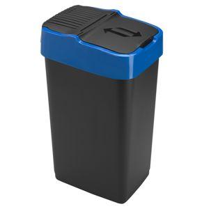 Heidrun Odpadkový kôš 35 l, čiernys s modrým pruhom, 35 l