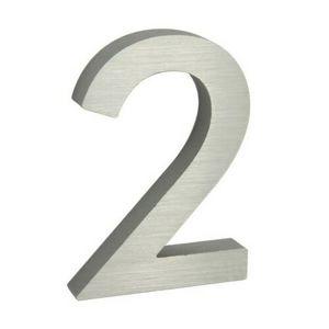 Hliníkové číslo 3D brúsený povrch RN.100LV.2.AL.3D
