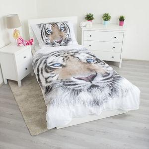 Jerry Fabrics Bavlnené obliečky White Tiger, 140 x 200 cm, 70 x 90 cm