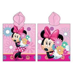 Jerry Fabrics Detské pončo Minnie Flower 018, 50 x 115 cm