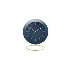 Karlsson Dizajnové stolové hodiny 5833BL Karlsson 10,5cm