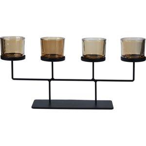 Koopman Svietnik na čajové sviečky Valderas, 55 x 26 cm