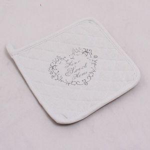 Dakls Kuchynská podložka Sweet Home biela, 19,5 x 0,5 x 19,5 cm