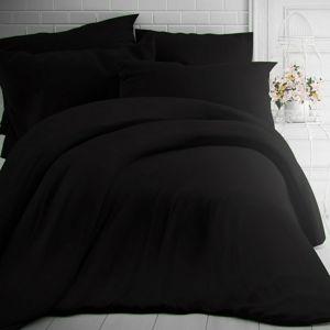 Kvalitex Bavlnené obliečky čierna