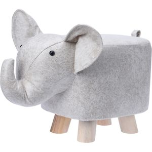 Látkový taburet v tvare slona, 50 x 28 x 26 cm