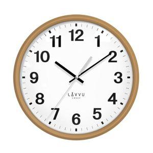 LAVVU LCS4040 - Svetlé drevené hodiny s plynulým chodom Essential Wood