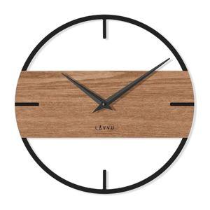 LAVVU LCT4010 - Štýlové drevené hodiny Loft v industriálnom vzhľade