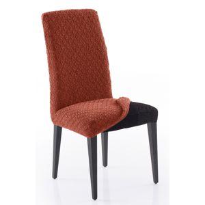 Forbyt Multielastický poťah na celú stoličku Martin terakota, 60 x 60 x 65 cm, sada 2 ks