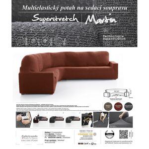 Forbyt Multielastický poťah na rohovú sedaciu súpravu Martin terakota, 340 - 540 cm