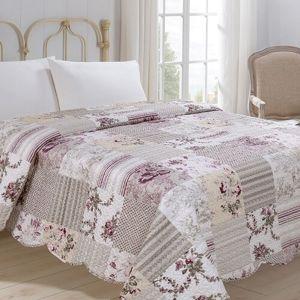 Jahu Prehoz na posteľ Kytka, 220 x 240 cm