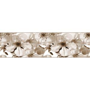 AG Art Samolepiaca bordúra Jabloňový kvet, 500 x 14 cm