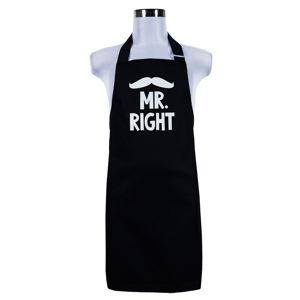 Šik v kuchyni Pánská zástera Mr. Right, 70 x 75 cm