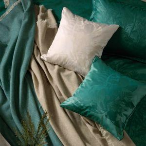 Stella Ateliers Dekoračná damašková obliečka na vankúšik Juna zelená, 40 x 40 cm