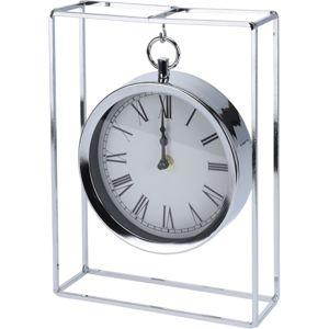 Stolné hodiny Erada strieborná, 18,8 x 5,8 x 25 cm