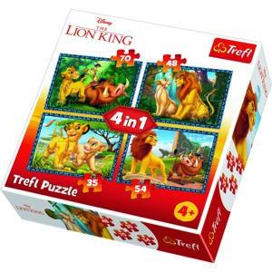 TREFL Puzzle Lví král 4v1 (35,48,54,70 dílků)