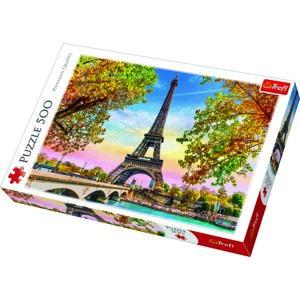 Trefl Puzzle Romantický Paríž, 500 dielikov