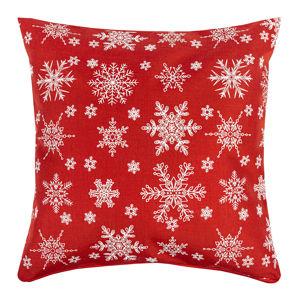 Dakls Vianočná obliečka Vločka červená, 40 x 40 cm