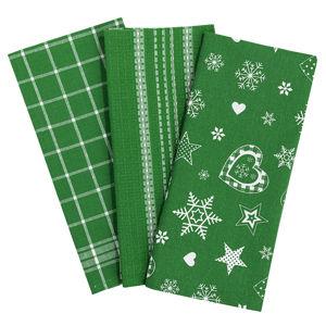 Forbyt Vianočná utierka 2013 zelená, 45 x 70 cm, sada 3 ks