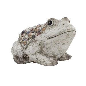 Záhradná dekorácia Žabka s kamienkami, 30 x 19 x 23 cm